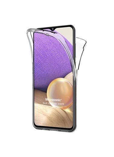 Microsonic Microsonic Samsung Galaxy A32 5G 6 Tarafı Tam Full Koruma 360 Clear Soft Şeffaf Telefon Kılıfı Renksiz